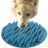 Ruberg-Comedero de Perros para ralentizar la Comida,Alimentación Lenta Tazón Anti-Gulping Mascotas,Lento Cuenco de Perro de Alimentación Comedero,azul-L,25.5CM