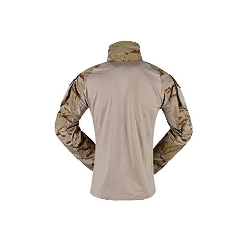 The Mercenary Company Elite Long Sleeve Combat Shirt 2019 Edition (Multicam Arid, XXXL)