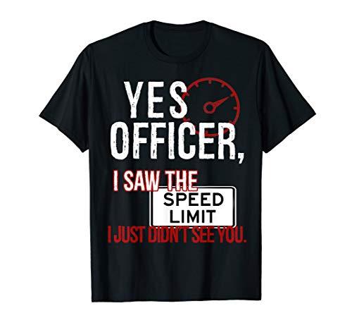 Humor Driver Police T-Shirt Mechanic Gift Car Mechanics Tee