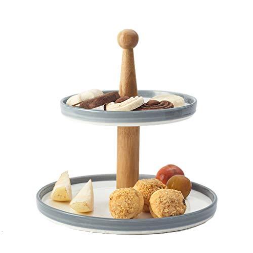 C-J-Xin Assiette ronde, plateau à gâteaux multicouche Assiette de fruits Assiette à biscuits Plateau de ménage simple 24-28CM Présentoirs à gâteau (Size : 24 * 24 * 25CM)
