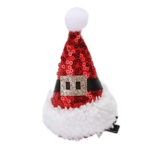 Hothap kinderen baby kerstmuts haarspeld kinderen meisjes verjaardagsfeest dress up hoofdtooi eendennavel haar accessoires cadeau (eerste foto) Wie gezeigt F