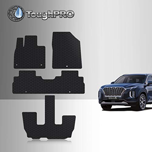 All Weather Heavy Duty - 2021 2020 Made in USA Compatible with Chevrolet Blazer TOUGHPRO Floor Mat Accessories Set - Black Rubber 2019 Front Row + 2nd Row