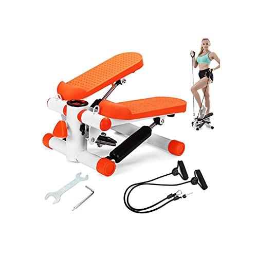 HMBB Mini Steppers Cinta de Correr Tranquilo Pedal del hogar hidráulicas Escaladoras Inicio aparatos de Ejercicios for Bajar de Peso Que Adelgaza la Pierna (Color : Orange)