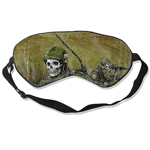 SWEET TANG Sleep Mask Army Camouflage Sugar Skull for Full Night's Sleep Comfortable Soft Eye Mask with Adjustable Strap Works with Every Nap Position Sleeping Aid Blindfold, Blocks Light
