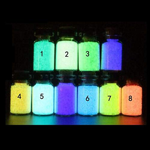 Bluelover DIY Luminous Glow Kies Nachtlichtende zand aquarium aquarium fluorescerende deeltjes Partydecoraties