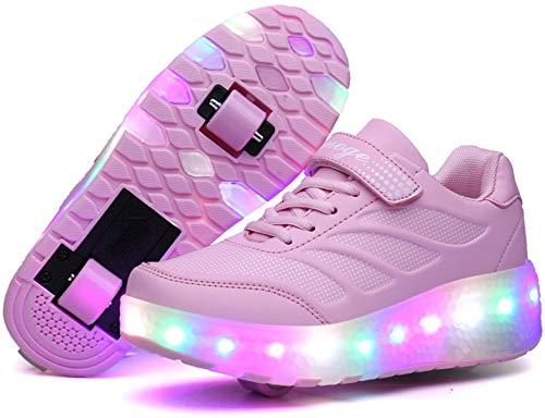 Rollschuhe Kinder,LED Lichter Blinken Rollschuh,Schuhe mit Rollen Outdoor-Sportarten Gymnastik Mode Rollerblades Sneaker Geschenk für Mädchen Jungen