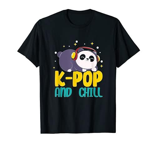 Cooles K pop and chill shirt koreanischer Kpops Panda Camiseta
