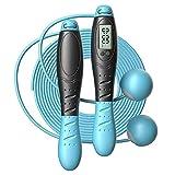 SHUTING2020 Equipo de Fitness Que Salta Cuerda Contando Mostrar Gimnasio Saltar la Cuerda de la Cuerda Cuerda Dual Uso Dual (Color : Blue)
