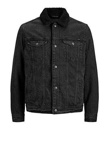 JACK & JONES Herren JJIJEAN JJJACKET AKM 836 STS Jeansjacke, Black Denim, L/