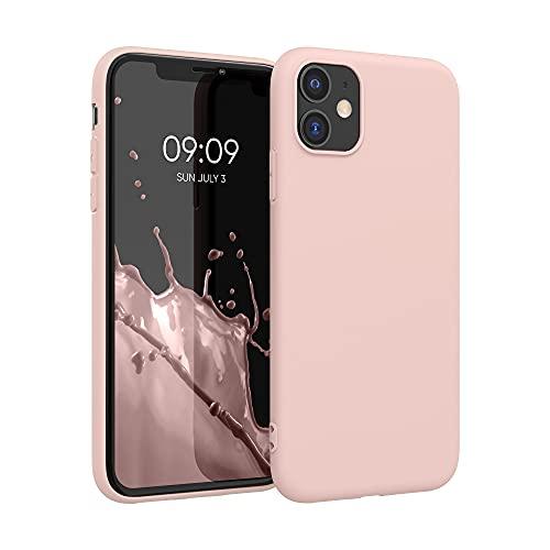kwmobile Custodia Compatibile con Apple iPhone 11 - Cover in Silicone TPU - Back Case per Smartphone - Protezione Gommata Oro Rosa Matt