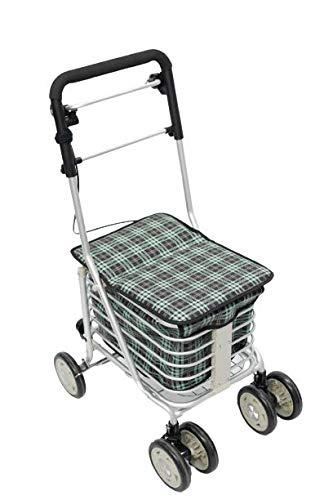 Carrito compra andador con asiento y frenos carrito andador ancianos