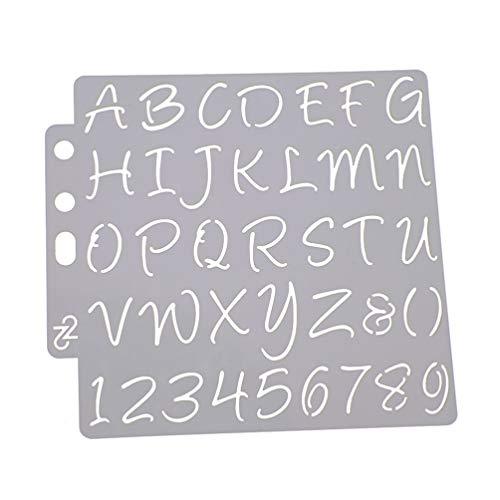 HEALLILY Plantillas de Letras Y Números Plantillas de Alfabeto Plantillas de Decoración de Pasteles para Diy Scrapbooking Pintura Dibujo Artesanía