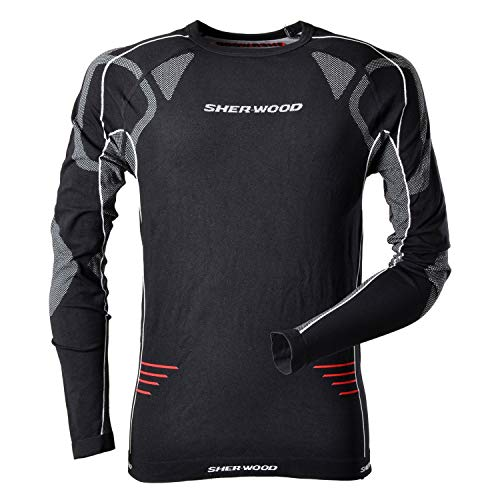 Sherwood Comfort Compression Unterwäsche Trainingsunterwäsche, schwarz, Senior