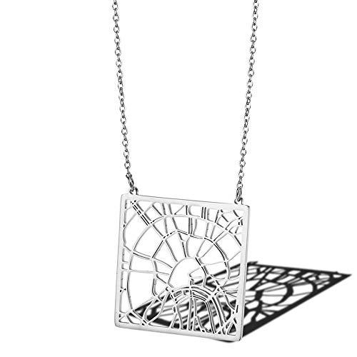Moskau Russland Stadtplan Halskette Grafik Geometrischer Schmuck Zarte Moskau Anhänger Halsketten