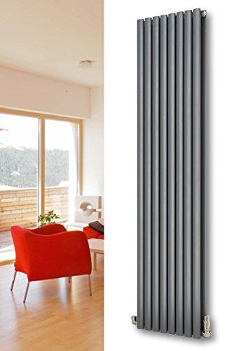 XIMAX Heizkörper Paneelheizkörper Fortuna Duplex 1800 x 236 mm anthrazit 736 Watt