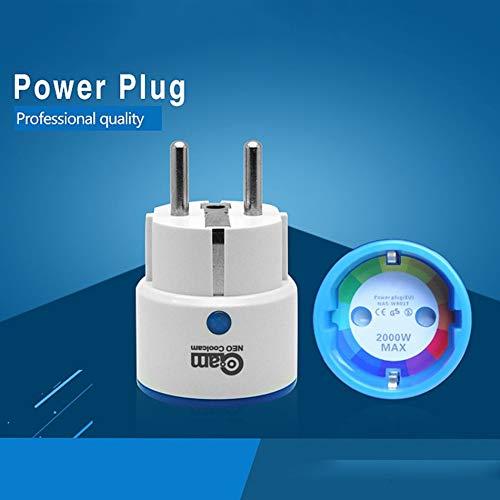 NAS-WR01ZE Enchufe de alimentación inteligente Z-Wave Enchufe de la UE Enchufe repetidor Enchufe de salida Extensor Sistema de alarma de automatización del hogar inteligente - Blanco