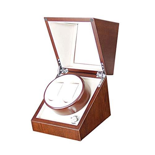 alvyu Holz Automatische Uhrenbeweger Aufbewahrungsbehälter, 5 Mute Rotationsmodi, Doppel Uhren Display Box