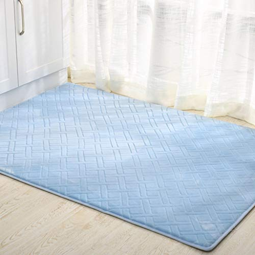 Eastery Subbye Door Mats Floating Window Mats Foyer Door Mats Living Simple Style Room Bedroom Foot Plate (Style Size Optional) (Color Blue Size 70 * 110Cm) (Color : Blau, Size : 100 * 180Cm)