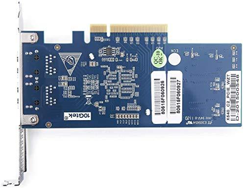 10Gtek® 10GbE PCIE Netzwerkkarte für Intel X540-T2 - X540 Chip, Dual RJ45 Ports, 10Gbit PCI Express x8 LAN Adapter, 10Gb NIC für Windows Server, Win8, 10, Linux, 3-Year Warranty, MEHRWEG