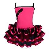Lito Angels - Traje de Baile para niña con tutú de Ballet, Traje de Hada con Cinta Recortada, Infantil, Color Hot Pink, tamaño 3-4 años