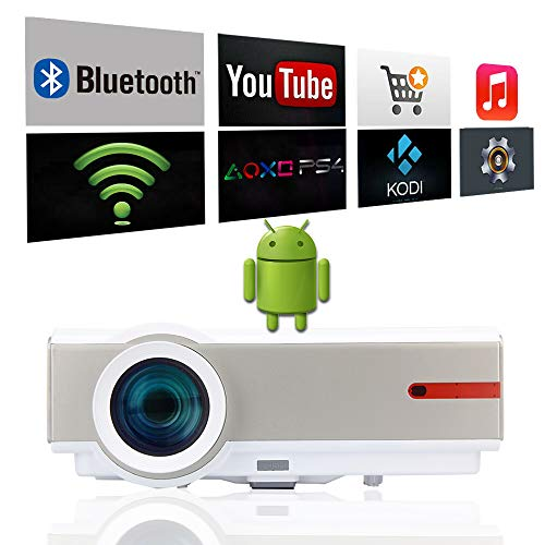 WiFi Proyector Android 1080P Video Proyector Full HD 5000 Lumen ...