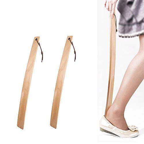 TAOtTAO 38cm Durable Long Handle Shoehorn Shoe Horn Lifter Disability Aid Flexible Stick