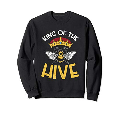 Bee keeper tee, King Of The Hive, Graphic Crown, Bee Sweatshirt
