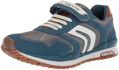 Geox Jungen J Pavel B Low-top Sneaker, Blau (Avio/Grey), 24 EU