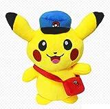 XINRUIBO Pokemon Pikachu muñeca Preciosa Almohada muñeca Pareja Creativa del paño del Regalo de cumpleaños Pikachu Juguete de Felpa Regalo Personalizado for la Novia 30Cm Pikachu Peluches