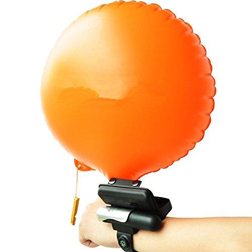 Pulsera flotante con bolsa de gas hinchable. Elemento de seguridad para niños, adultos y gente que está aprendiendo a nadar, naranja