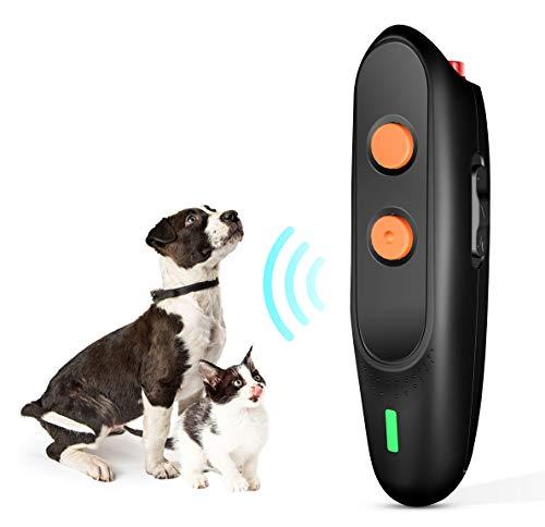 PESTON Anti Barking Device - Ultrasonic Dog Bark Deterrent Rechargeable and 2 in 1 Dog Behavior Training Tool Control Devices, Handheld Ultrasonic Anti Bark Dog Train Repeller Stop Barking