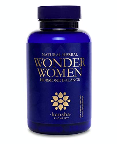 Wonder Women Herbal Hormone Balance for Women, PMS and Menopause Supplements with Sage, Red Clover, Black Cohosh, Dong Quai, Ashwagandha and Blessed Thistle. 60 Count/1 Month