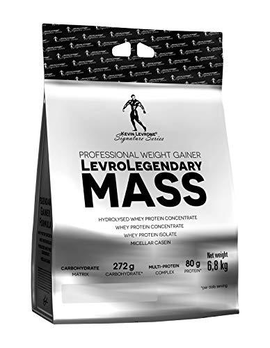 Kevin Levrone Legendary Mass 6800g 6.8kg Protein Powder Pulver Mass Gainer Masse Muskel Silhouette (Vanilla Almond)