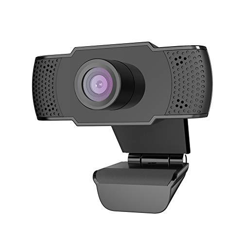 BOIFUN Webcam 1080P con Microfono, videocamera PC Desktop USB 2.0 Full HD Web Camera per videochiamate, Studio, conferenza, Registrazione