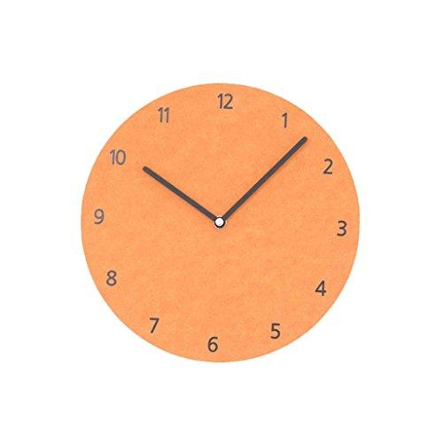 LINGZHIGAN Creative Decorative Wall Clock Cartoon Colorful Clock Retro Chambre Salle d'étude Salon Kid 26cm ( Couleur : Orange )