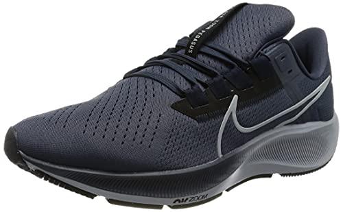 Nike Air Zoom Pegasus 38, Zapatillas para Correr Hombre, Thunder Blue/Wolf Grey-Black, 44 EU
