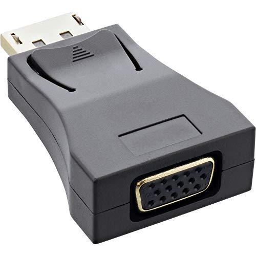 InLine® DisplayPort Konverter, DisplayPort Stecker auf VGA Buchse, FullHD/60Hz, schwarz/Gold