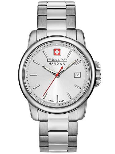 Swiss Military Hanowa Unisex Erwachsene Analog Quarz Uhr mit Edelstahl Armband 06-5230.7.04.001.30