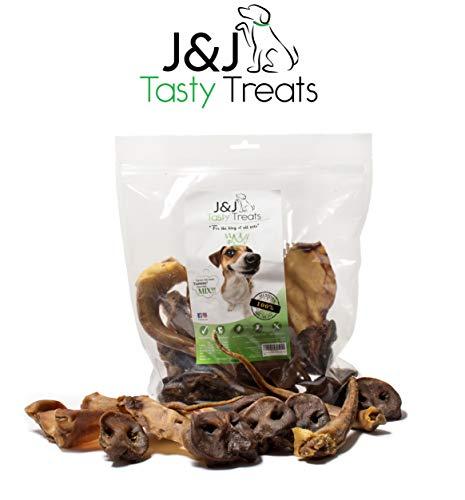 J&J Tasty Treats Hundesnack, 3in1 Mix, 500g, Schweineohren, Schweineschwänzen, Schweinenasen