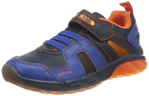 Geox J SPAZIALE Boy A, Zapatillas, Navy/Royal, 25 EU