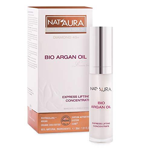 BioFresh NatAura Express Lifting Serum Concentrate 45+ – Antivieillissement concentré avec huile de rose bio et huile d'argan organique – Produit naturel 30 ml