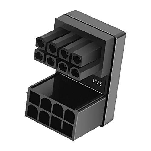 POHOVE ATX 6-polige / 8-polige Buchse auf 6-poligen / 8-poligen Stecker, 180 Grad abgewinkelter Netzadapter, Mainboard-Motherboard für Desktop-Grafikkarten