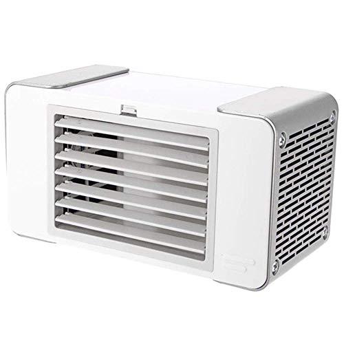 Mini-ventilator, kleine desktop-airconditioning, ventilator, luchtbevochtiger, verdamping, draagbaar, mobiel, geluidloos, kleine persoonlijke ruimte voor kantoor, thuis en op reis B