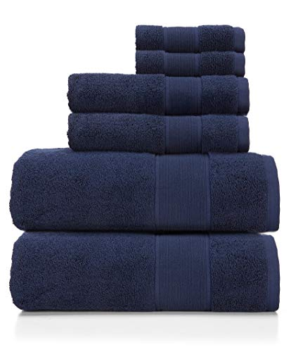 Ralph Lauren Sanders Handtuch 6-teiliges Set Club Navy - 2 Badetücher, 2 Handtücher, 2 Waschlappen