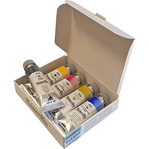 Maimeri Blu Artists' Watercolour Trial Collection - 5 x 12ml tubes
