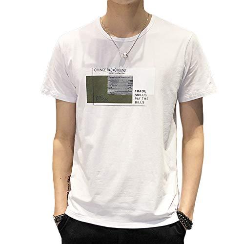 春秋 Tシャツ 長袖 メンズ カジュアル 無地 カットソー ファッション 丸襟 柔らかい 快適 (white2, XXXL)