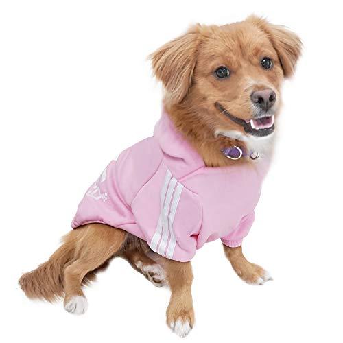 Eastlion Felpa Cane Vestiti Cappotto Caldo Felpe con Cappuccio Maglione per Cucciolo di Cane Piccolo in Cotone Costumi Abbigliamento per Animali Domes