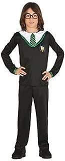 Boys Green Wizard Halloween TV Book Film School Boy Uniform Nerd Geek Scholar Fancy Dress Costume Outfit 5-12 Years