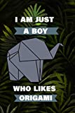 I Am Just A Boy Who Likes Origami: Gift For Boys - Dot Grid Paper Notebook
