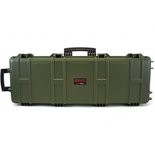 Malette fusil carabine anti choc 105 x 33 x 15 wateproof Nuprol avec roulette (OD Green, 105 x 33 x 15)